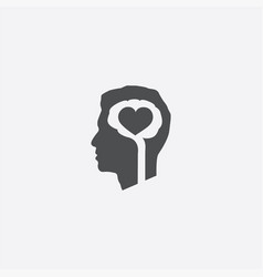 brain heart icon vector image