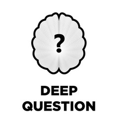 brain question creative icon smart intelligence vector image