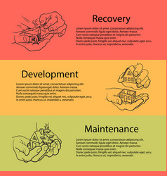 business concept recovery development vector image