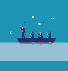 Business leadership and teamwork concept vector
