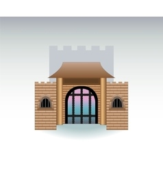 Castle gate cartoon vector