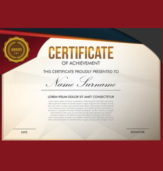 Certificate template full color vector