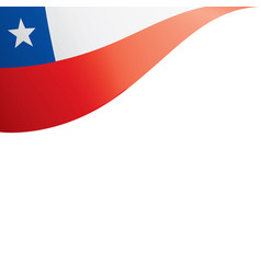 chile flag on a white vector image