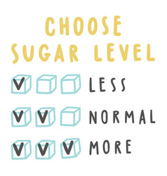 choose sugar level for drinks vector image