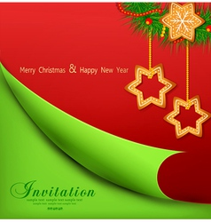 Christmas background with sweets vector image vector image
