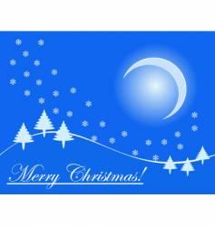 Christmas holiday card vector image