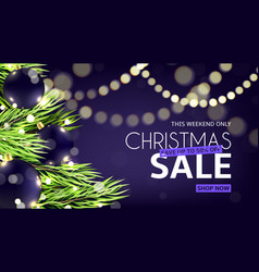 christmas sale web banner vector image