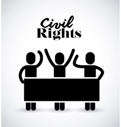 civil rights design vector image