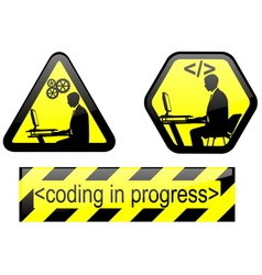 coding in progress vector image