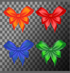 Colored bows set vector