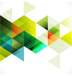 colorful transparency and fade triangle background vector image