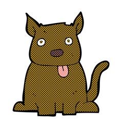 comic cartoon dog sticking out tongue vector image