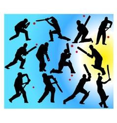 cricket players vs vector image