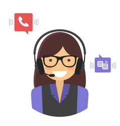 Customer support service concept vector