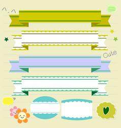cute ribbons vector image