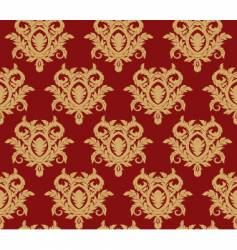 damask floral background vector image