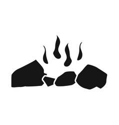 Design firewood and bonfire sign set of vector