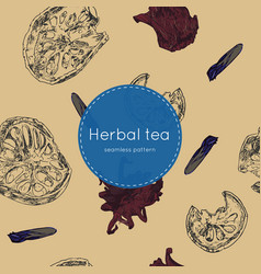 dried herbal thai tea seamless pattern vector image