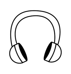 earphone wire music icon vector image