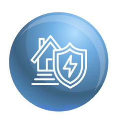 Energy house protect icon outline style vector