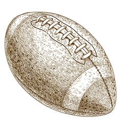 engraving american football ball vector image