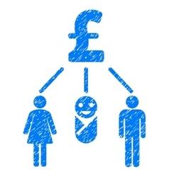 Family pound budget grainy texture icon vector