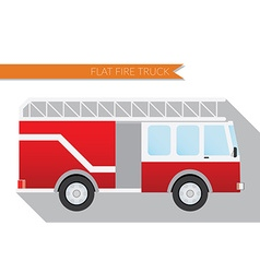 Flat design city Transportation fire truck side vector image