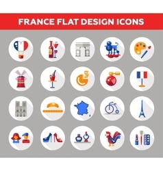 France travel icons and elements with famous vector image