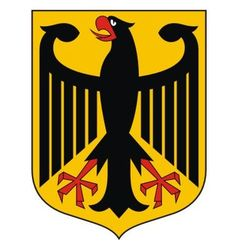 germany coat arms vector image