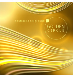 golden circle abstract background vector image