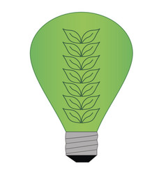 green light lamp vector image