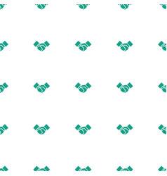 handshake icon pattern seamless white background vector image