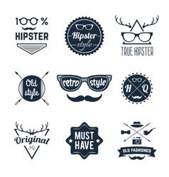 Hipster label set vector
