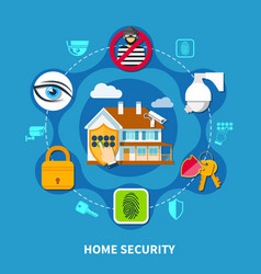 Home security concept vector