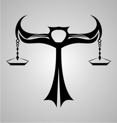 Libra Signs Tribal vector image