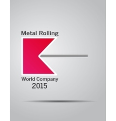 logo company metal rolling vector image