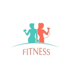 man and woman of fitness gym silhouette character vector image