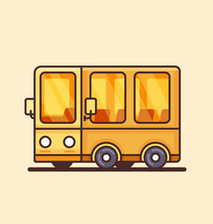 modern yellow bus icon flat design vector image