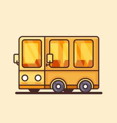 modern yellow bus icon flat design vector image