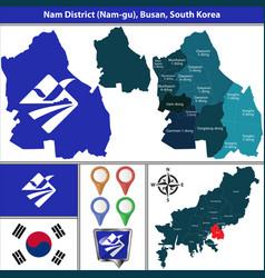 nam district busan city south korea vector image