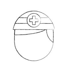 nurse avatar staff clinical people profesional vector image