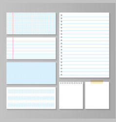 paper and notes set vector image