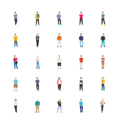 People character flat icon vector