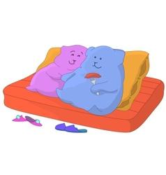 Pillows Family on a sofa vector image