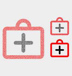 pixel first-aid case icons vector image