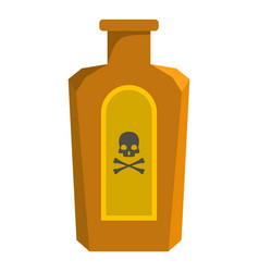 poison bottle icon cartoon style vector image
