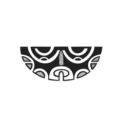 polynesian tattoo indigenous primitive art vector image