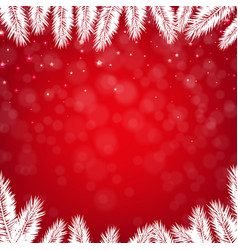 red winter poster vector image