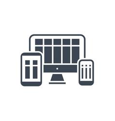 responsive web design glyph icon vector image
