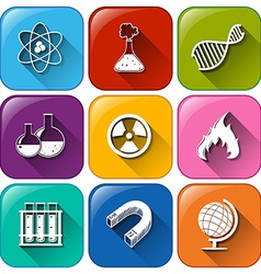 Science object icons vector